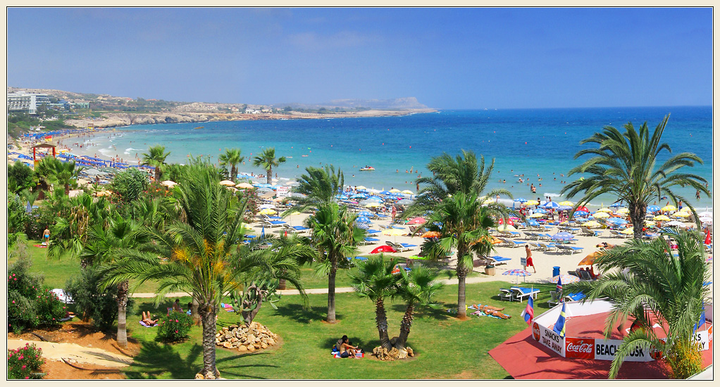 View of Agia Napa beach located in vicinity of Nelia Beach Hotel
